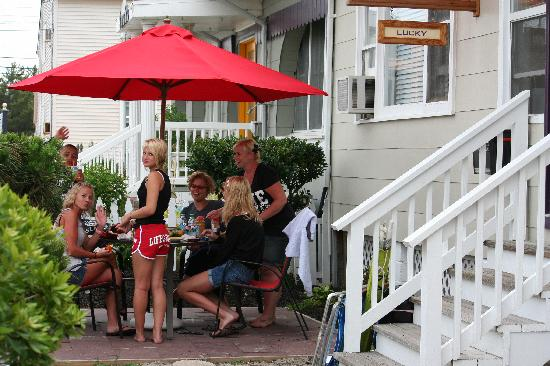 Windward at the Beach: Patio - dine in or go out!