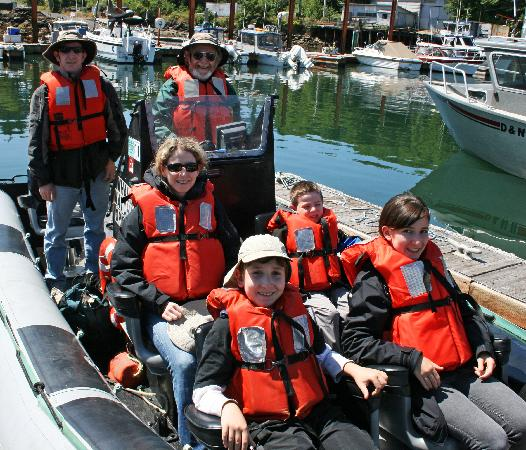 Whale Research EcoExcursions: Family in Zodiac
