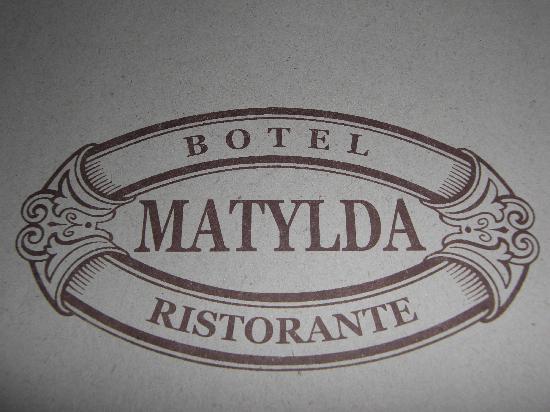 Botel Matylda: The menu