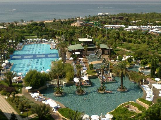 Concorde De Luxe Resort: View from the balcony, overlooking the pools.