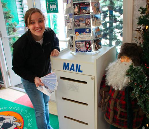 North Pole, Alaska: Dropping in our postcards from the North Pole