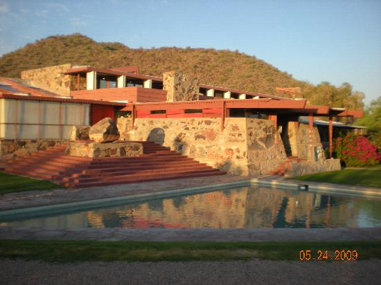 Beautiful front of Taliesin West main building