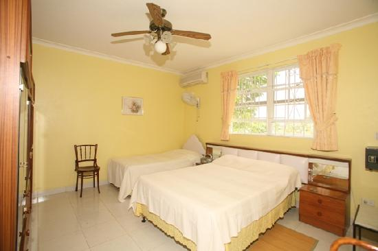 Palm Paradise Guest House + 2 Apartments: Yellow Room - en suite