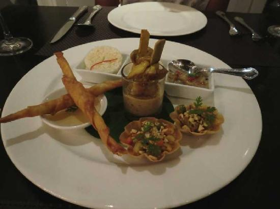 Ping Nakara Boutique Hotel & Spa: Starter dish