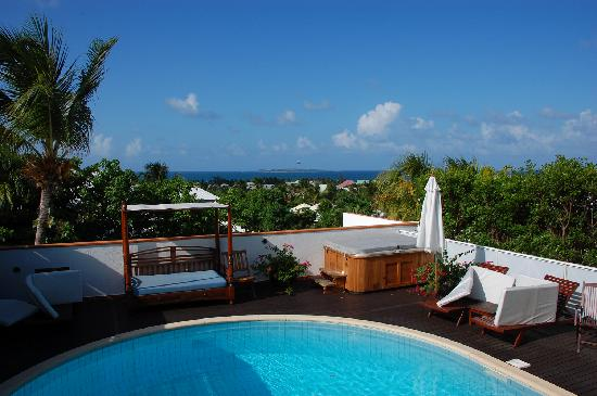 Green Cay Villas: Pool area at Villa One