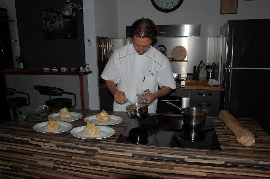 Green Cay Villas: Chef in gourmet kitchen - Amazing!