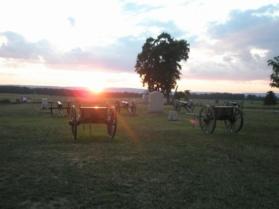 The Lodges at Gettysburg: A cool shot of the battlefield
