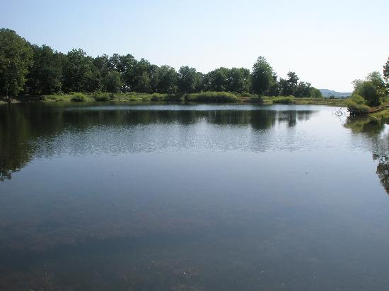 The Lodges at Gettysburg: The lake when entering the lodges