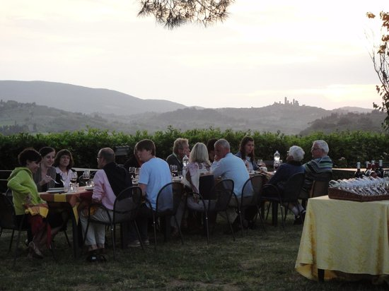 Country House Croce di Bibbiano: Magical evening