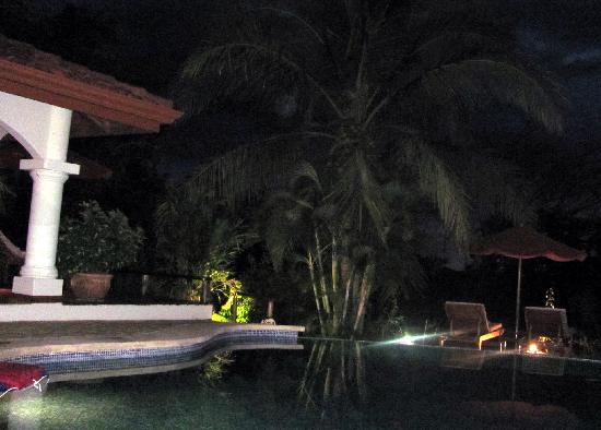 Los Altos de Eros: pool at night