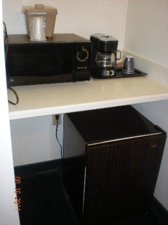 Dunes Manor Hotel & Suites: microwave and fridge