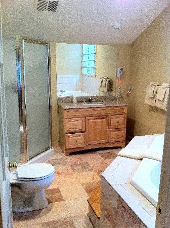 Attitash Mountain Village: A Picture of the Master Bathroom with the Jacuzzi Tub