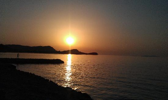 Sidari Beach : Beautiful sunset