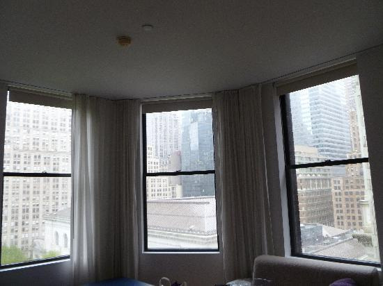 The Bryant Park Hotel : Bay window view from suite