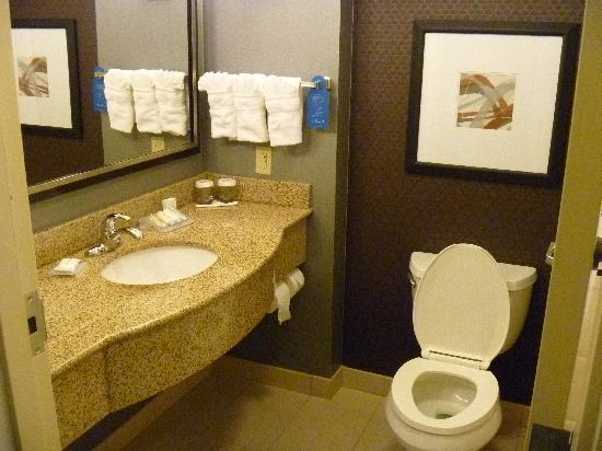 Hilton Garden Inn Jonesboro: Suite toilet areas