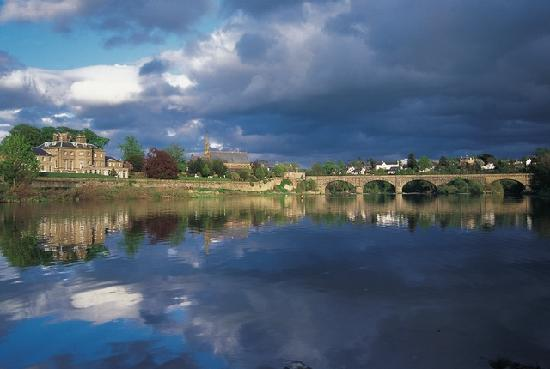 Kelso, UK: overlooking the river Tweed