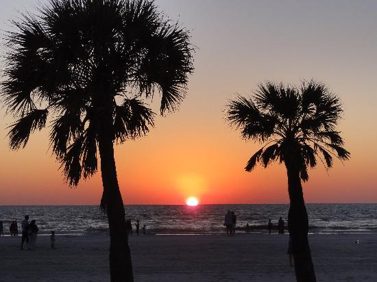 ‪حياة رجنسي كلير ووتر بيتش ريزورت آند سبا: Sunset from the Clearwater Beach‬