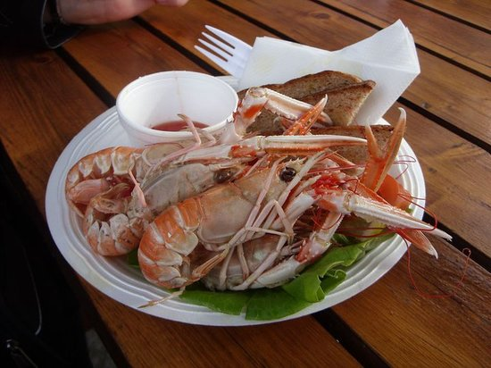 Oban Seafood Hut: Langoustines at Seafood Hut