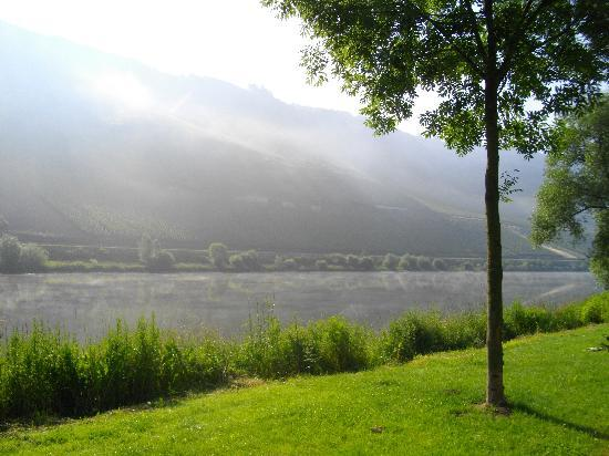 Reil, Germany: Enchanting Morning in front of the Hotel