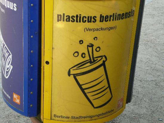 Botanischer Garten und Botanisches Museum Berlin-Dahlem: Excellent use of humour to promote recycling