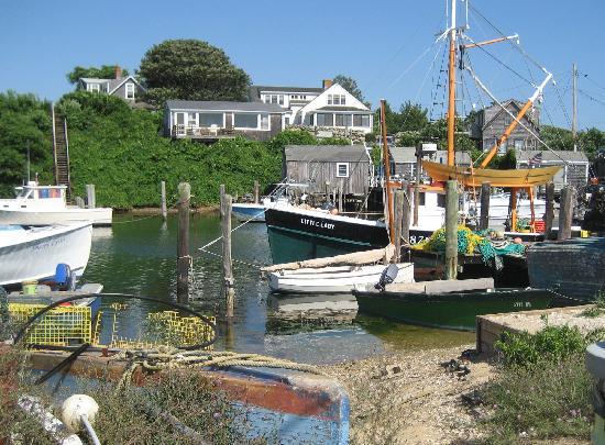 Menemsha Harbor Standing Where They Built Quint S Hut For