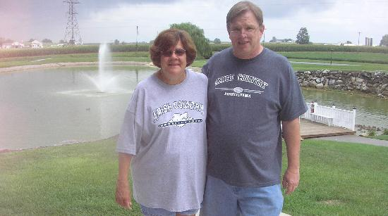 Bird-In-Hand Family Inn: Our Anniversary - taken in the back pond area