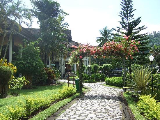 Minahasa Prima Resort: View of reception from gardens