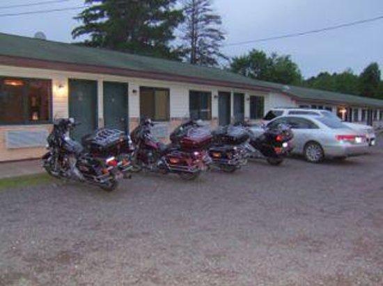 Brule, WI: Motel at Dusk