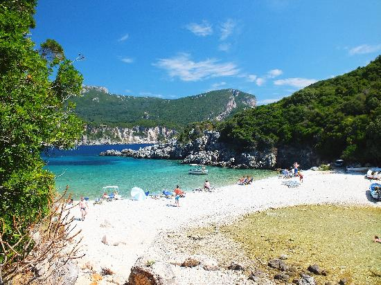 ‪‪Corfu‬, اليونان: secluded beach at Paleokastritsa‬