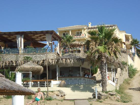 Delfino Blu Boutique Hotel: Hotel fm the beach