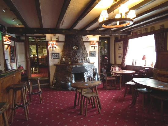 Forresters Arms: The bar of the Forrester Arms with mouseman furniture
