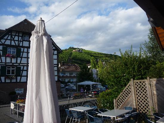 Hotel Ritter Durbach : View of hotel with Vineyard in the background