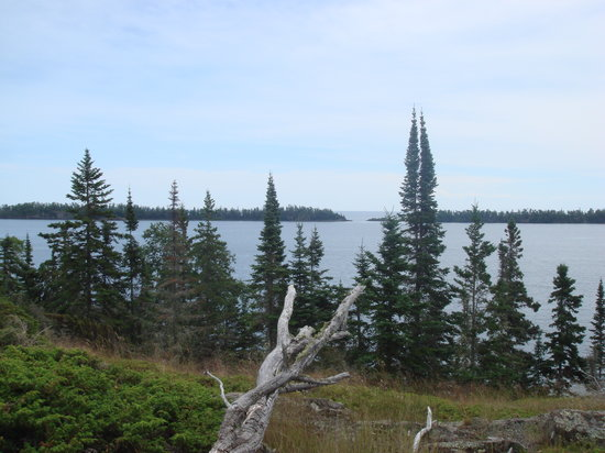 Национальный парк Айл-Ройал, Мичиган: View of Lake Superior from Scoville Point Trail