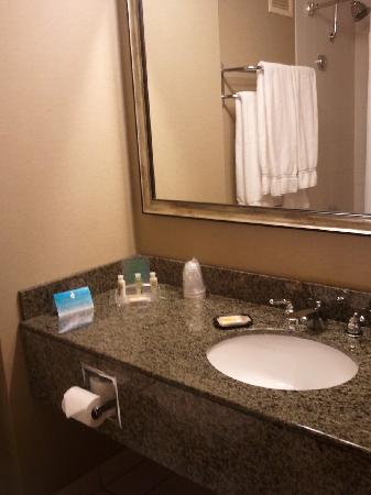Holiday Inn Missoula Downtown: Beautiful new granite countertops in all 200 guest bathrooms installed August 2011