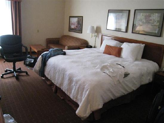 Hampton Inn New Albany: Layout of Room # 128.