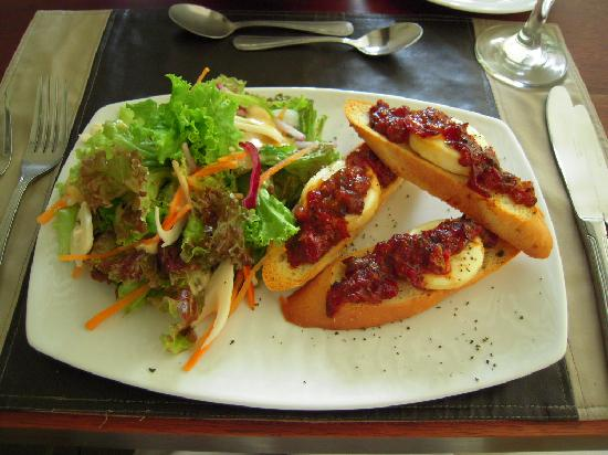 Hotel Contempo: my chevre chaud salade -comes with the real french vinaigrette