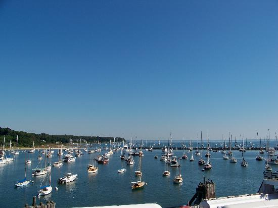 Martha's Vineyard, MA: vineyard haven harbor, from the ferry
