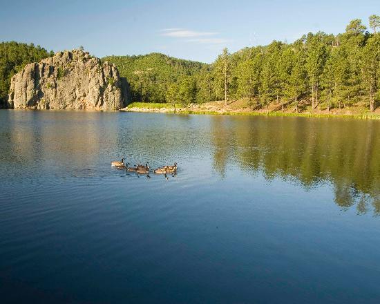 Legion Lake Resort: Lake in the morning