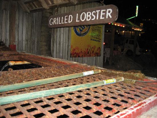Mr. Busby's Beach Bar: Grilled Lobsters