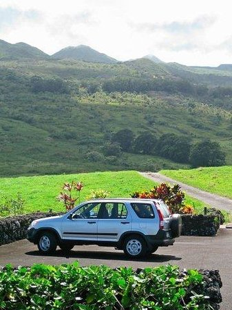 Makawao, ฮาวาย: Hina, my Honda CRV, in Heavenly Hana,