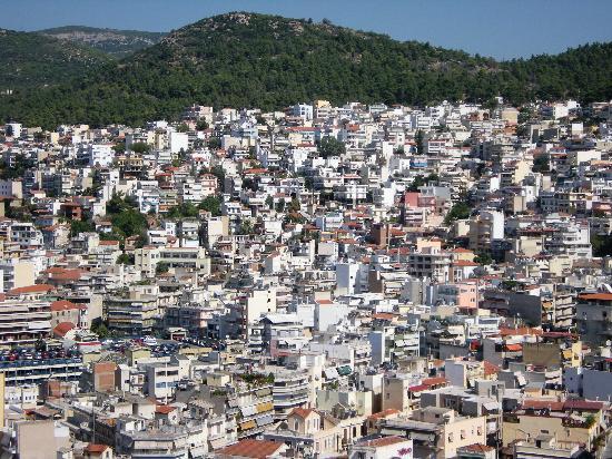 Kavala, Greece: Dazzling, blinding white