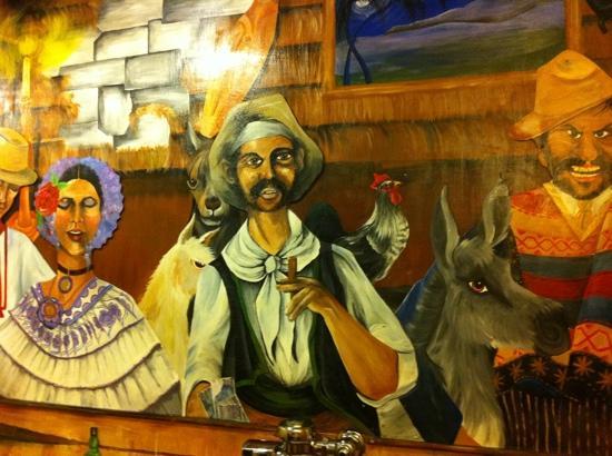 Red Mesa Grill: Mural in men's room