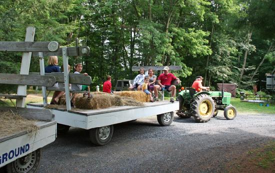 Deerpark / New York City NW KOA: Hay ride