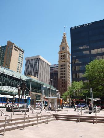 chess tables picture of 16th street mall denver. Black Bedroom Furniture Sets. Home Design Ideas