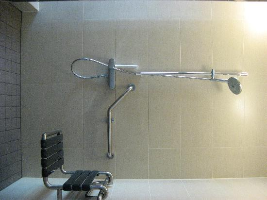 The Circus Hotel: Accessible shower