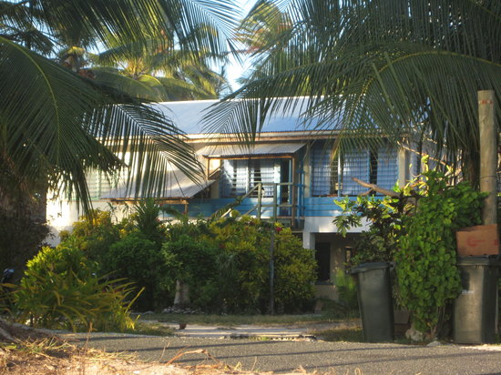 Funafuti, Tuvalu: Front view of guest house