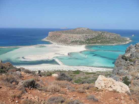 Balos Beach and Lagoon: la vista dal sentiero