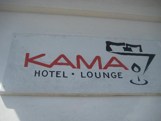 Kama the Upstairs Guesthouse: picture of hotel sign
