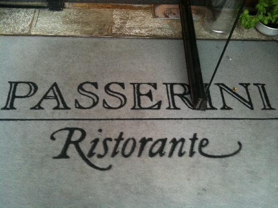 Passerini: welcome