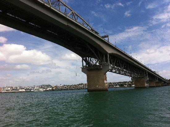 Pont du port d'Auckland : Someone just bungee jumped!